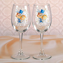 """Свадебные бокалы для шампанского """"Жених+невеста"""" (2 шт)"""