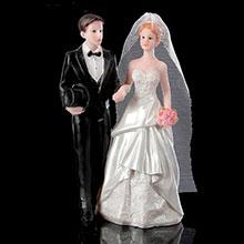 """Фигурка для торта на свадьбу """"Жених и невеста"""" (19 см)"""