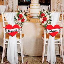 """Свадебные таблички """"Жених, невеста"""""""
