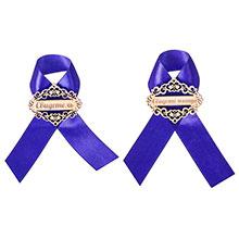 Свадебные значки для свидетеля и свидетельницы (2 шт, синие)