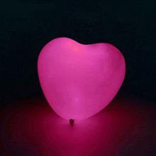 Набор воздушных шаров-сердечек со светодиодом (5 шт, розовые)