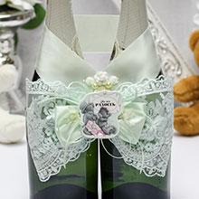 Декор для свадебного шампанского Me to you