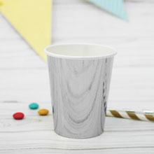 """Набор бумажных стаканчиков """"Серебро"""", 6 шт., 250 мл"""