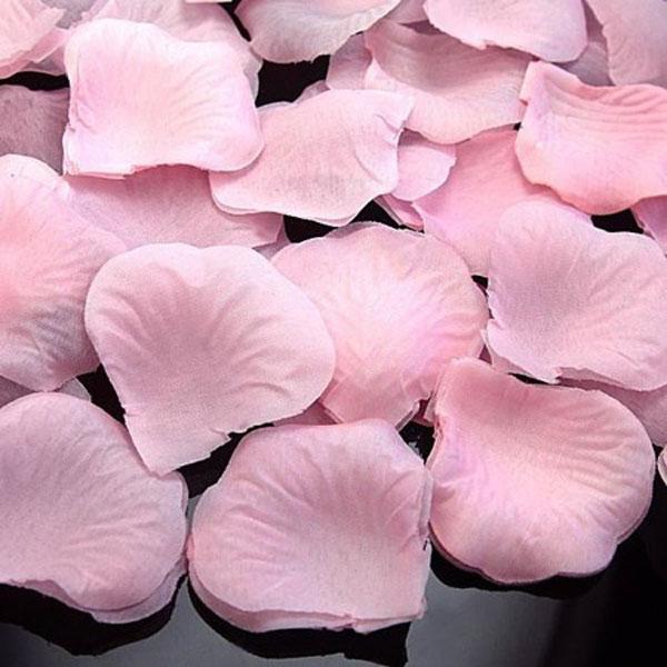Искусственные лепестки роз (нежно-розовый)
