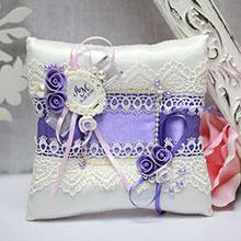 Свадебная подушечка Летний вечер (сиреневый)