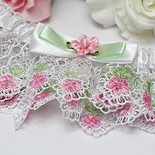 Подвязка для невесты Весенние цветы