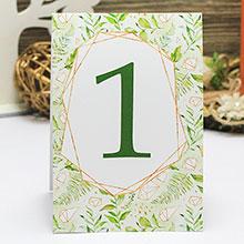"Карточка с номером стола ""Greenery"" (дизайн 4)"