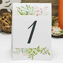 "Карточка с номером стола ""Greenery"" (дизайн 5)"