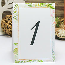 "Карточка с номером стола ""Greenery"" (дизайн 6)"