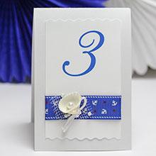 Карточка с номером стола Морской бриз