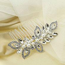 """Гребень для невесты """"Венецианский цветок"""""""