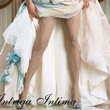 Кружевные колготки на свадьбу Charmante Intriga Intima (4 рр, белый)