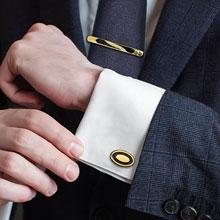 """Набор: запонки + зажим для галстука """"Жених"""""""