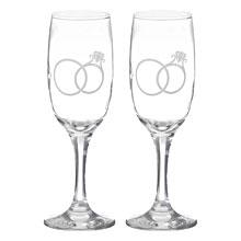 Свадебные бокалы Обручальные колечки
