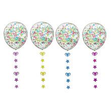 Воздушный шар с конфетти и фигурной подвеской (30 см), 1 шт
