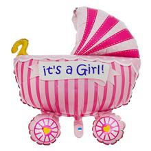 """Фольгированный воздушный шар """"It's a girl"""" (87 см)"""