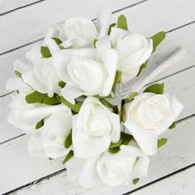 """Букет-дублер для невесты """"Розочки"""" (белый)"""