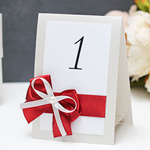 """Карточка с номером стола """"Romantic"""""""
