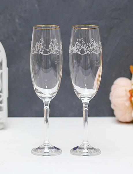 """Свадебные бокалы для шампанского """"Орнамент"""" (2 шт)"""