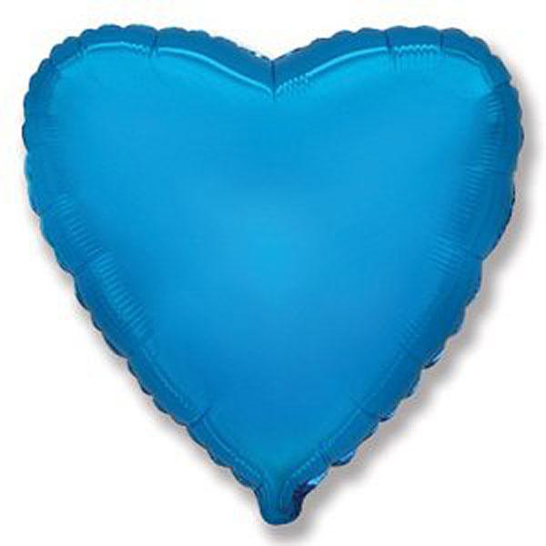 Фольгированный шар Сердечко, 45 см (синий)