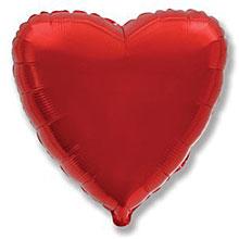 """Фольгированный шар """"Сердечко"""", 45 см, красный"""
