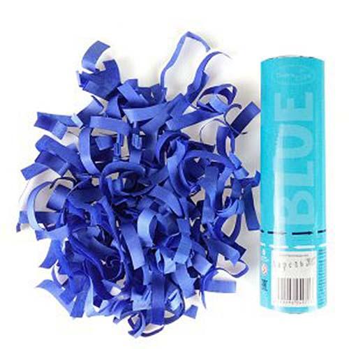 """Пневмохлопушка """"Синее конфетти"""", бумага (20 см)"""