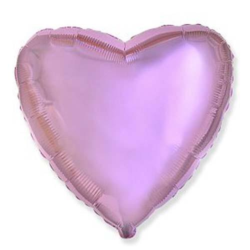 Фольгированный шар Сердечко, 45 см (розовый)