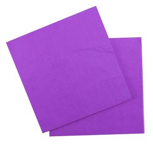 Бумажные салфетки (12 шт, 33 см) (фиолетовый)