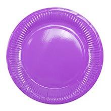 Бумажные тарелки (6 шт, 18 см) (фиолетовый)