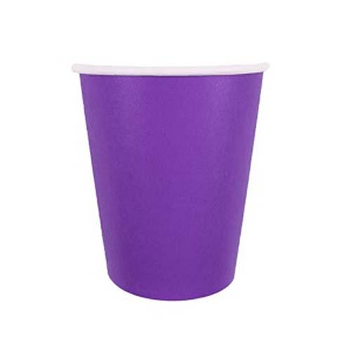 Бумажные стаканчики (6 шт, 250 мл) (фиолетовый)
