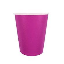 Бумажные стаканчики (6 шт, 250 мл) (фуксия)