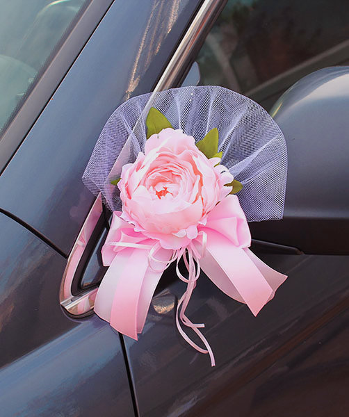 Украшение на ручки или зеркала авто Очарование (2 шт) (розовый)