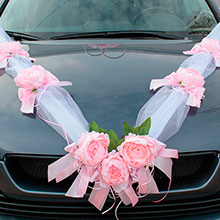 Красивая лента на машину Очарование (розовый)