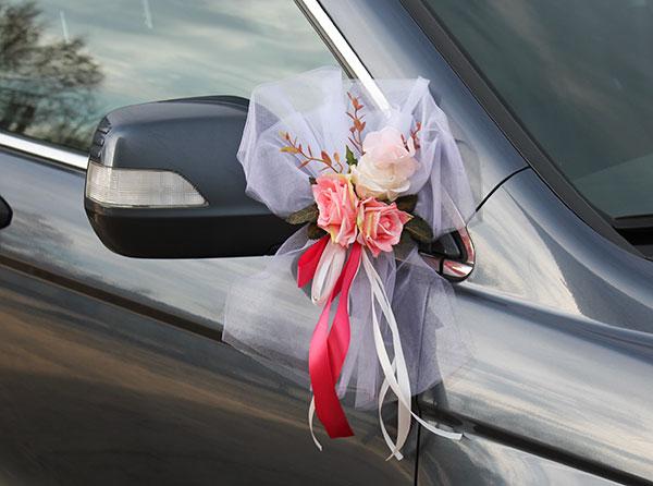"""Украшения для ручек и зеркал авто """"Прованс"""" (2 шт, малиновый)"""