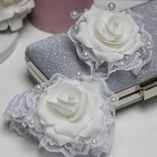 Комплект свадебных аксессуаров для свидетелей Пышная роза