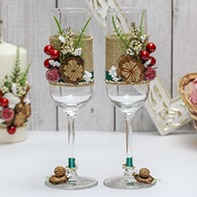 Свадебные бокалы ручной работы Зимняя сказка
