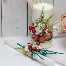 Свадебные свечи для молодоженов Зимняя сказка (без подсвечников)