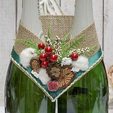 Украшение для шампанского Зимняя сказка