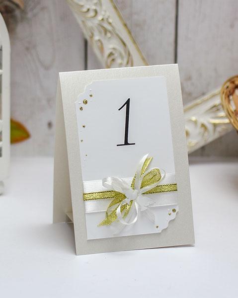 Карточка с номером стола Семейное гнездышко (айвори)