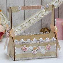 Корзиночка для записок с пожеланиями или лепестков