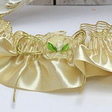 Подвязка для невесты Золотое сияние
