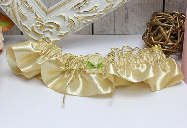 """Подвязка для невесты """"Золотое сияние"""" (золотой)"""