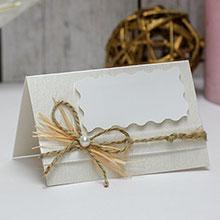 Банкетная карточка для гостей Полевые цветы