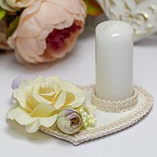 """Свадебная свеча на подставке """"Пылающее сердце"""""""