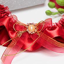 Подвязка для невесты Забава (красная)