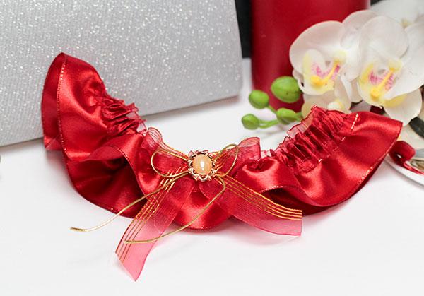 Подвязка для невесты Забава (красный)