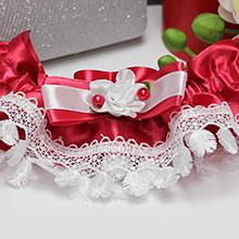 """Подвязка для невесты """"Малиновый джем"""""""