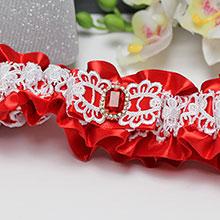 Подвязка для невесты Рубин