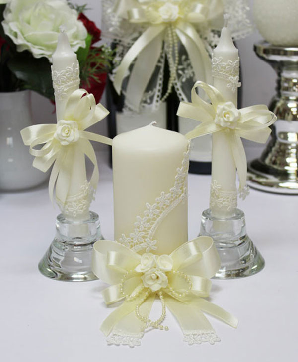 "Домашний очаг + 2 свечи ""Розалия"" (без подсвечников)"