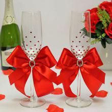 Набор свадебных бокалов молодоженов